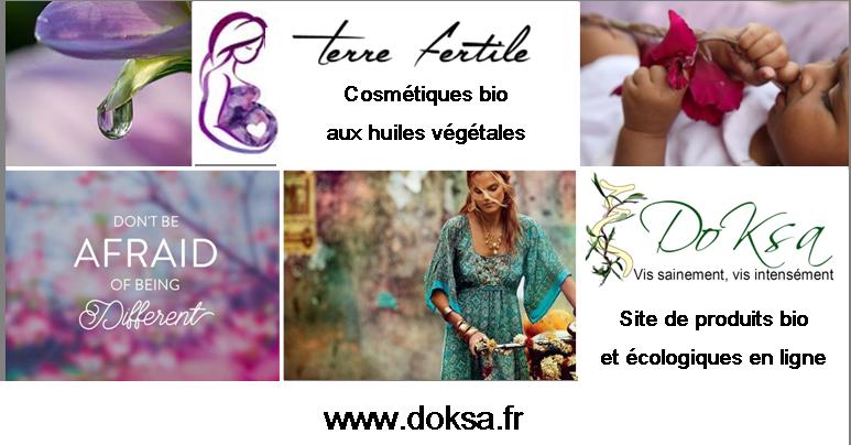 logo doksa site de vente en ligne bio dermo cosmétique naturelle pour les problèmes de peaux.