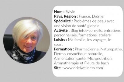 Sylvie Orielwellness carte de visite